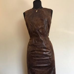 Faux leather dress. Perfect for an earthy look!